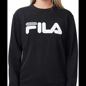 Fila crew neck sweatshirt sweater top black white